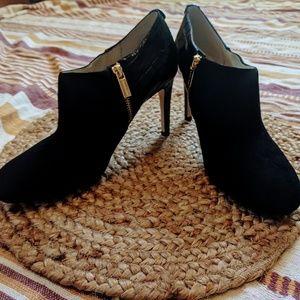 New Michael Kors Black Zip Up High Heel Booties